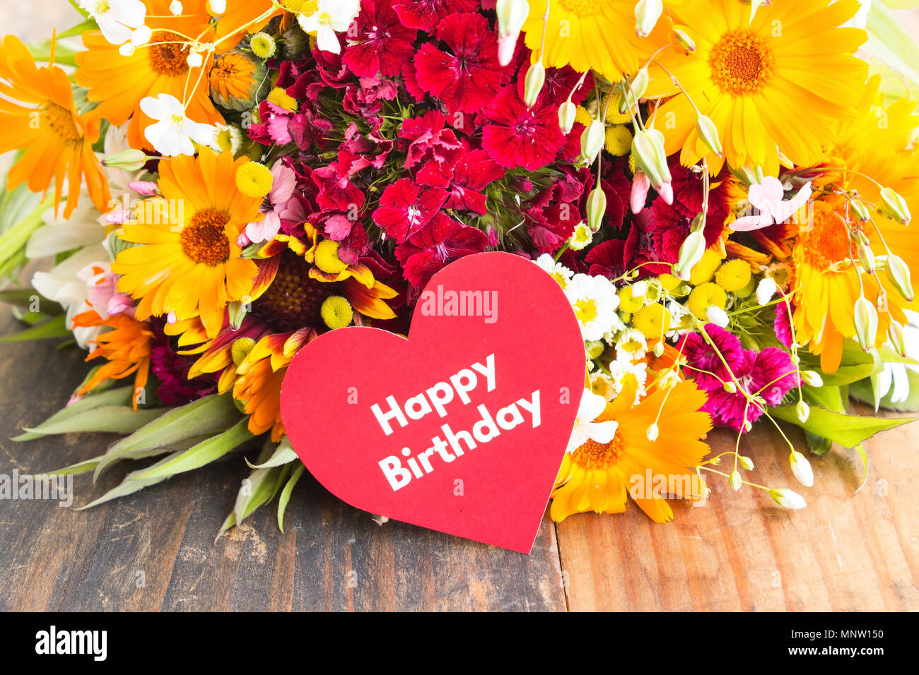 Buon Compleanno Card Con Fiori Di Primavera Foto Immagine Stock