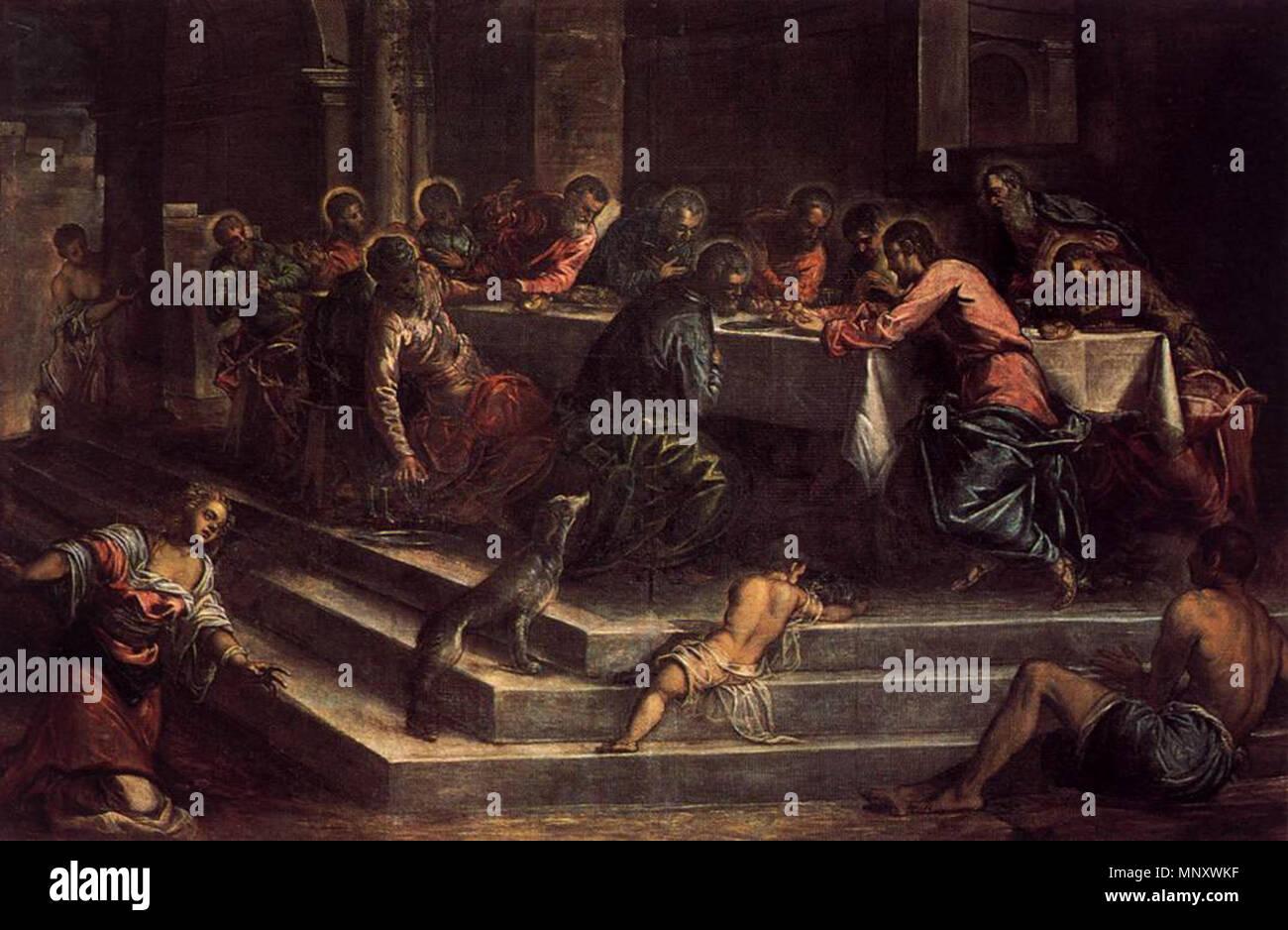 L Ultima Cena circa 1570. 1194 Jacopo Tintoretto - L'Ultima Cena - WGA22613  Foto stock - Alamy