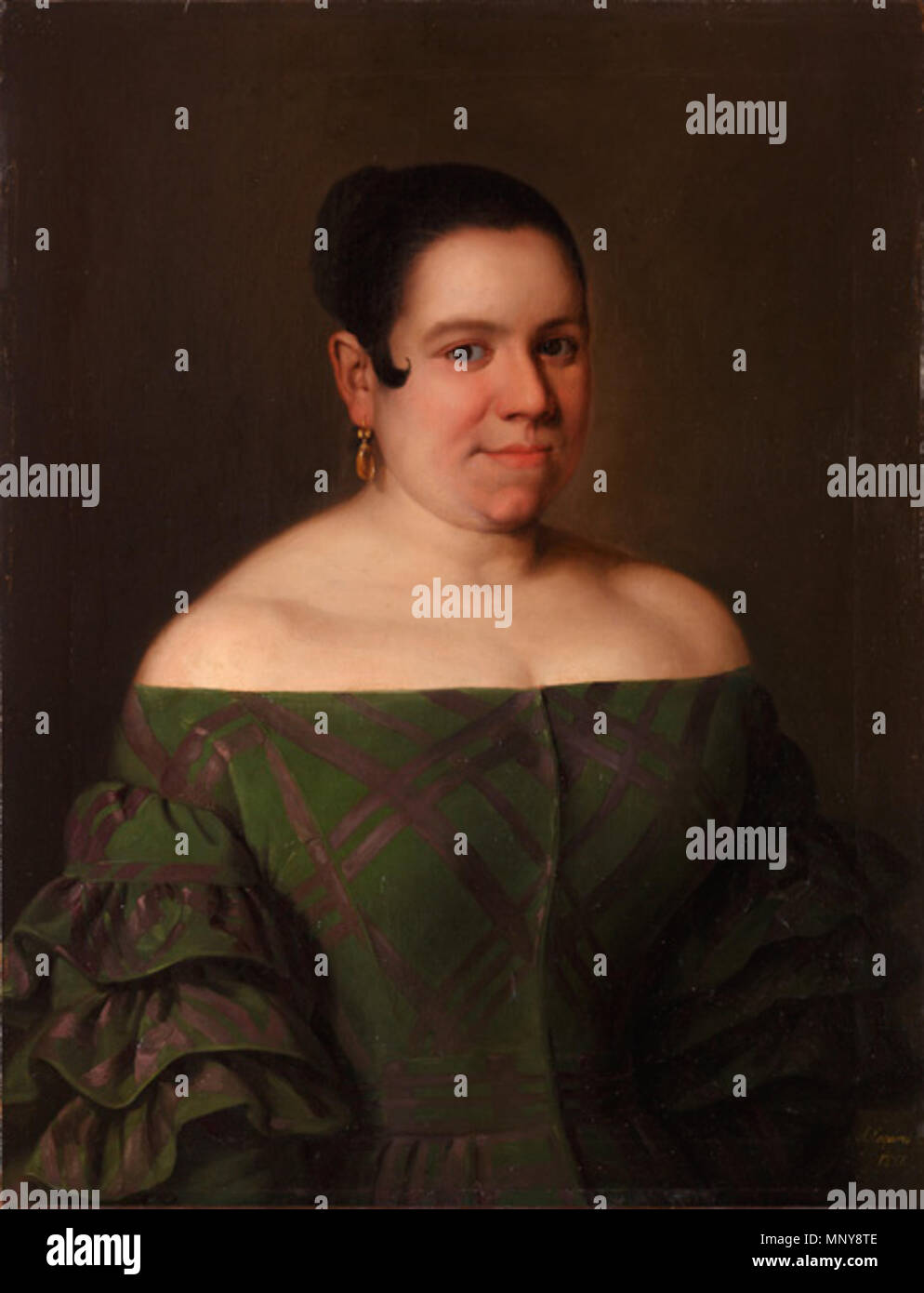 Anverso MNR CE0116 913 Museo del Romanticismo - CE0116 - Bárbara Lamadrid Immagini Stock
