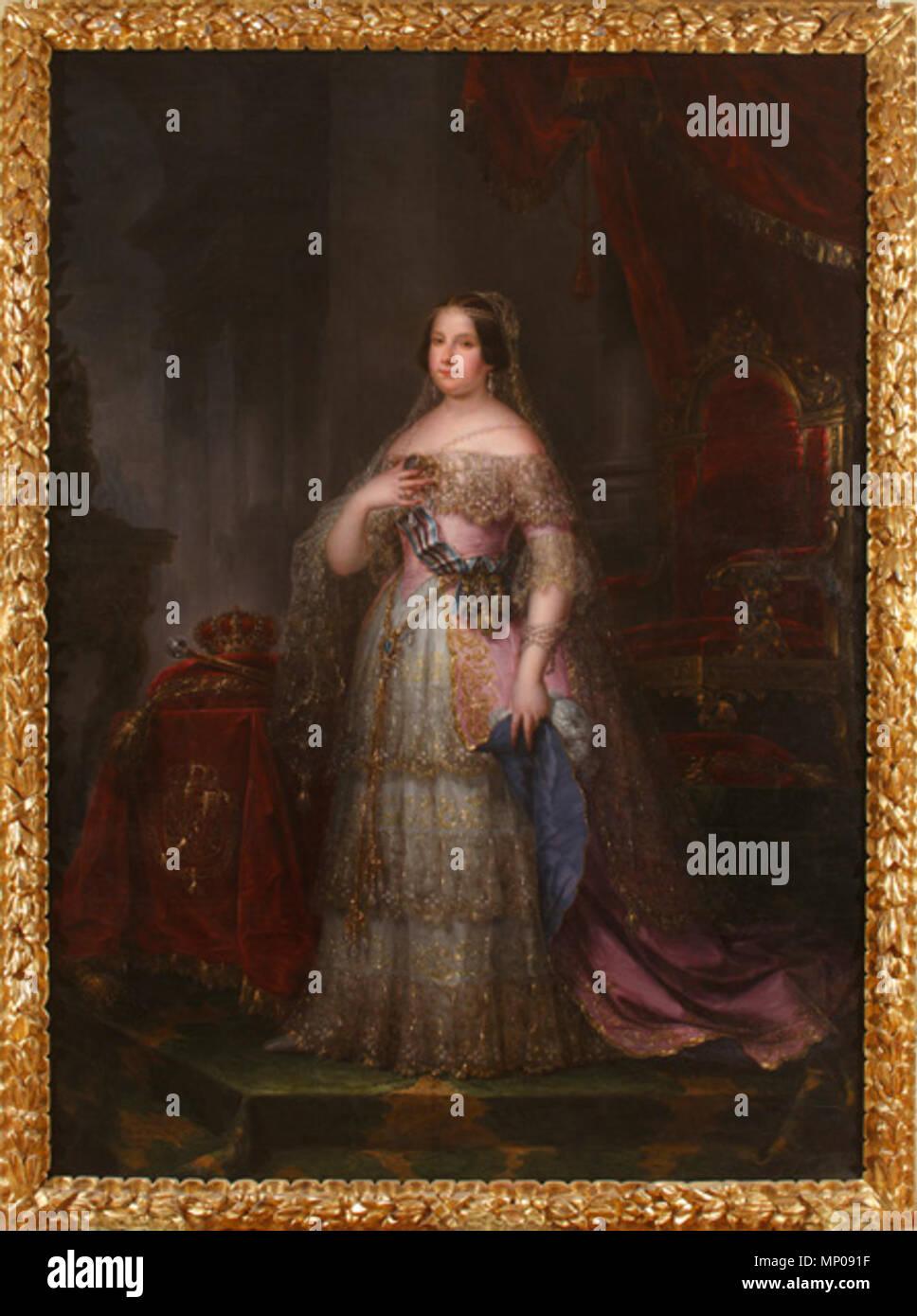 MNR CE0871 913 Museo del Romanticismo - CE0871 - Isabel II Immagini Stock