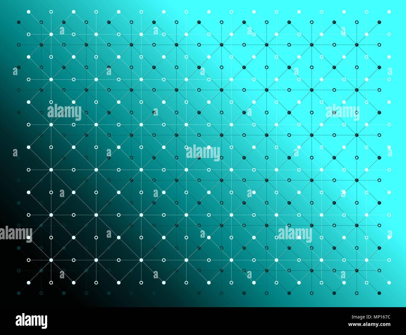 Punti E Linee I Colori Nero E Bianco Texture Pattern Su Gradiente