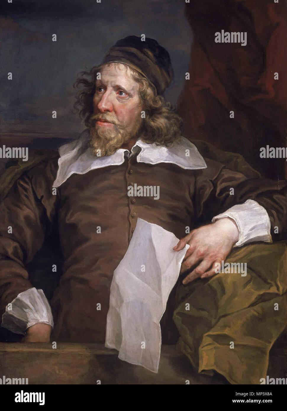 Inigo Jones (1573-1652) *91,5 x 71 cm *1757-1758 Ritratto di Inigo Jones, architetto inglese . 1022 PortraitInigoJones Immagini Stock