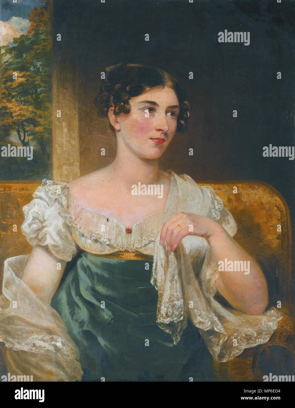 L'attrice irlandese Harriett Costanza Smithson (1800-1854) *olio su tela *91,5 x 71 cm l'attrice irlandese Harriett Costanza Smithson (1800-1854), da Ge 1176 L'attrice irlandese Harriett Costanza Smithson (1800-1854), da George Clint Immagini Stock