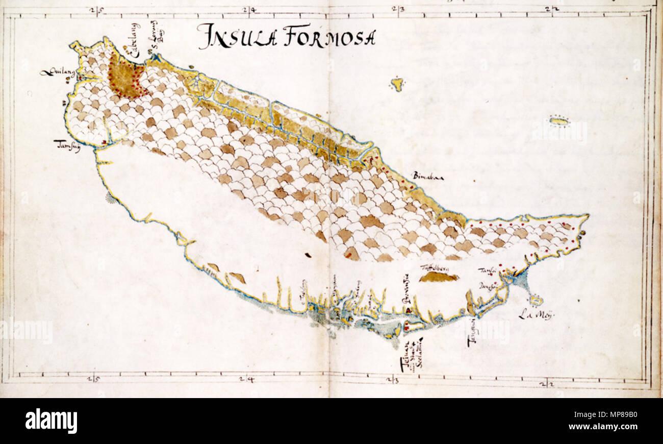 Deutsch: Eine Karte Von Formosa, Gezeichnet Von Caspar Schmalkalden Nachdem  Er Seinen Dienst .