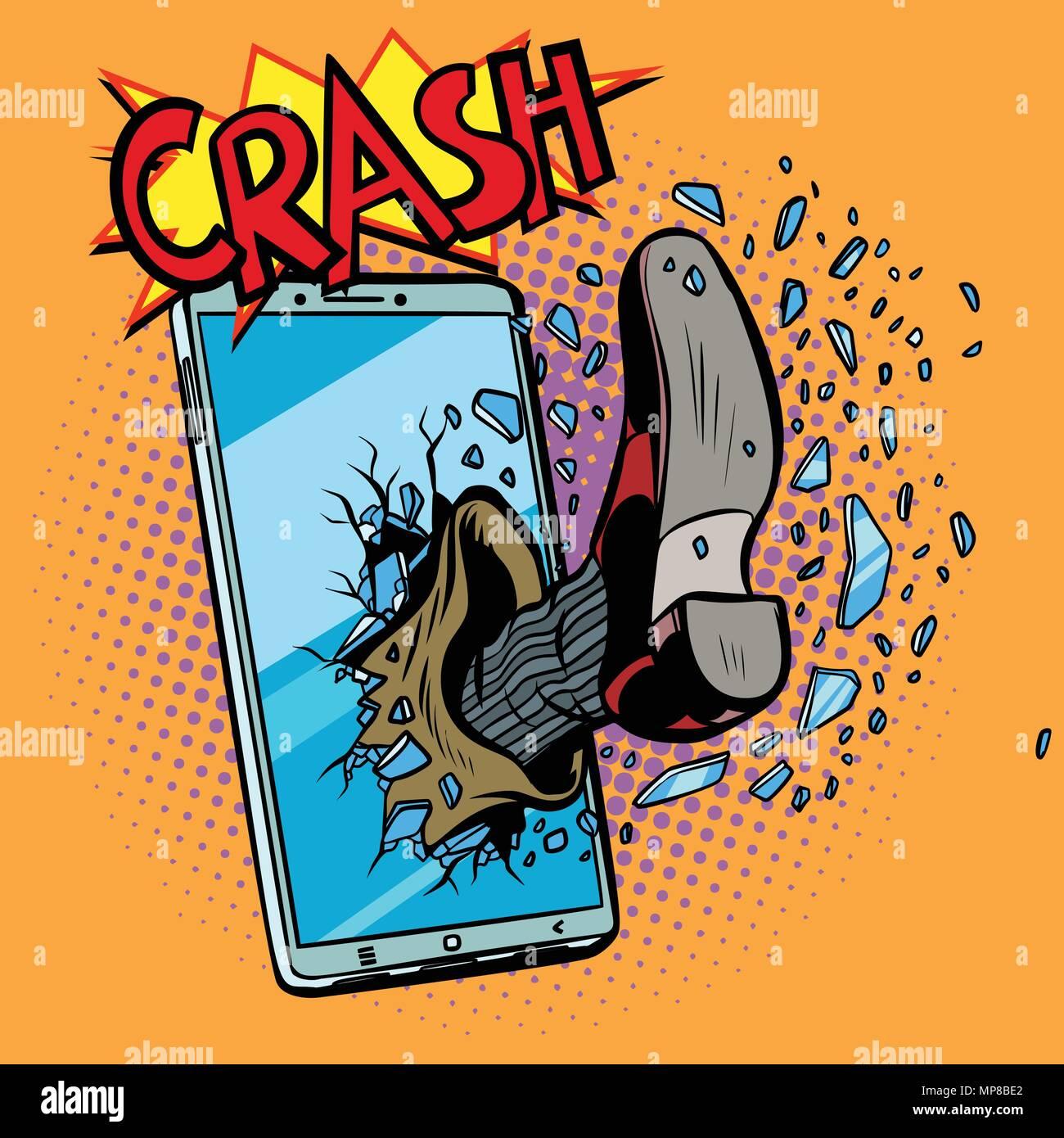 Hacking di un telefono mobile device Immagini Stock