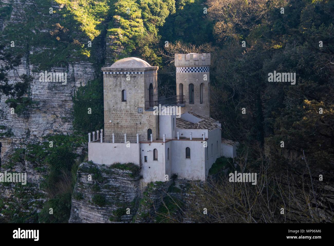 La Torretta Pepoli, Erice, in Sicilia Immagini Stock