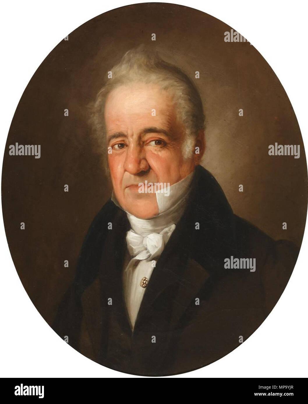 850 Manuel José Quintana (Museo del Romanticismo de Madrid) Immagini Stock