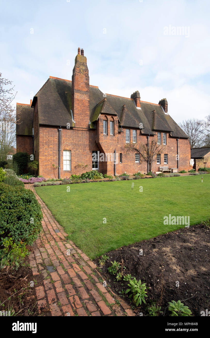 Bexleyheath bei London, Casa Rossa, Wohnhaus von William Morris. Erbaut 1859 von Philipp Webb, Inneneinrichtung von William Morris im Stil der arti e Immagini Stock
