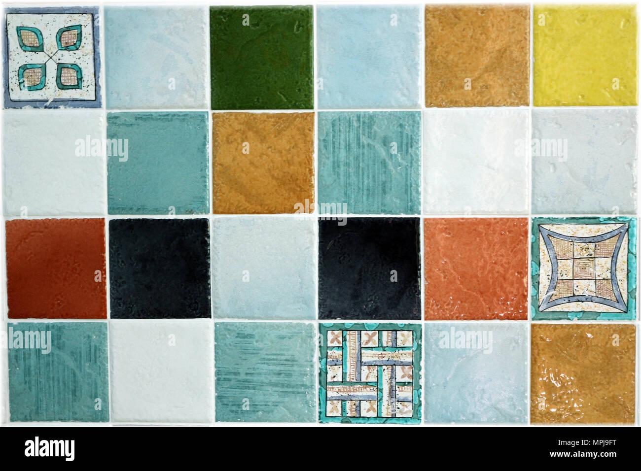 Vettore seamless pattern di piastrelle in ceramica blu