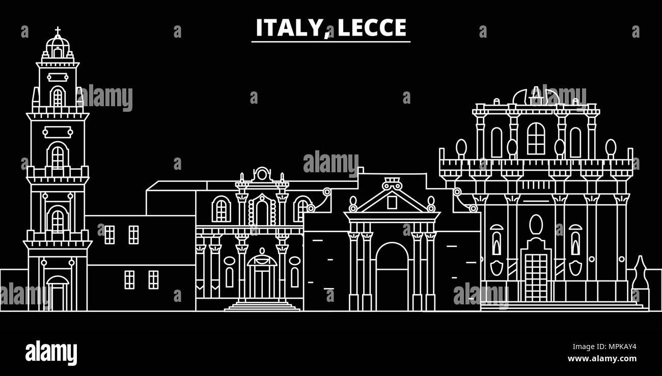 Architetti Famosi Lecce lecce silhouette skyline. italia - lecce città di vettore