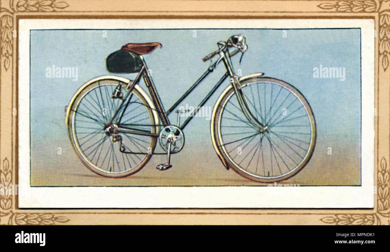 Signora della bicicletta cambio di velocità e illuminazione a