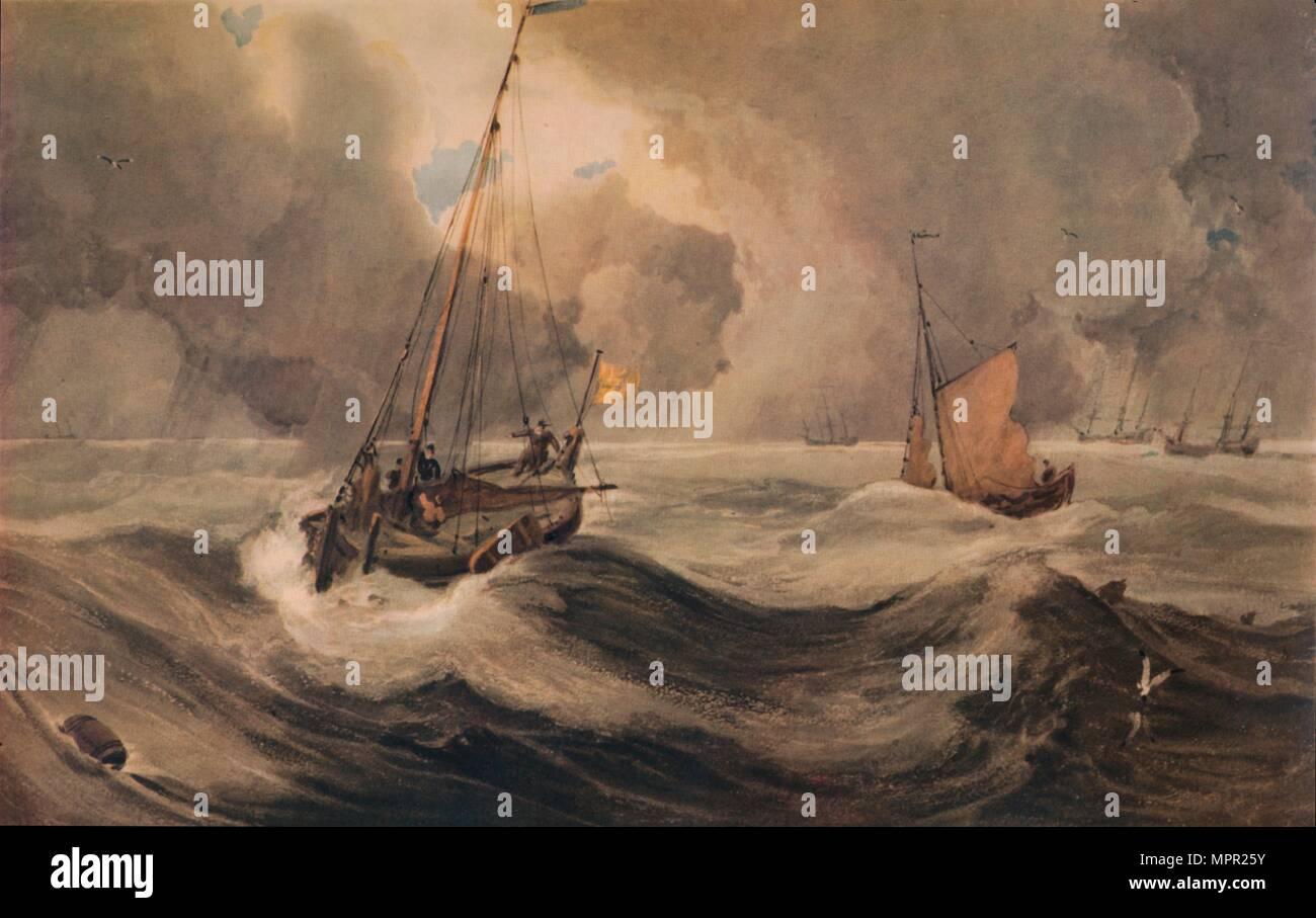 """""""Dutch Schuyts Lavaggio off"""", secolo XIX, (1935). Artista: Francois Louis Thomas Francia. Immagini Stock"""
