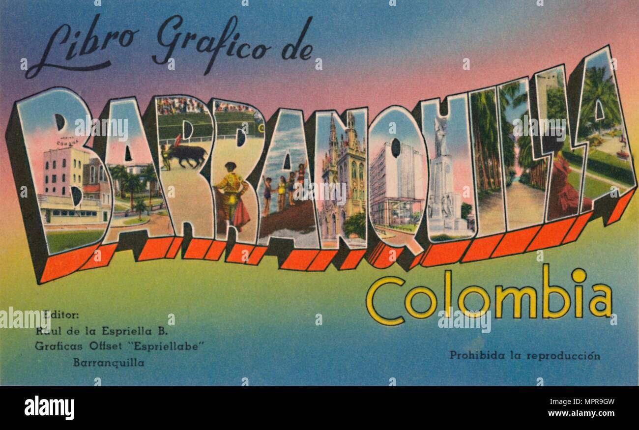 'Libro Grafico de Barranquilla Colombia', c1940s. Artista: sconosciuto. Immagini Stock