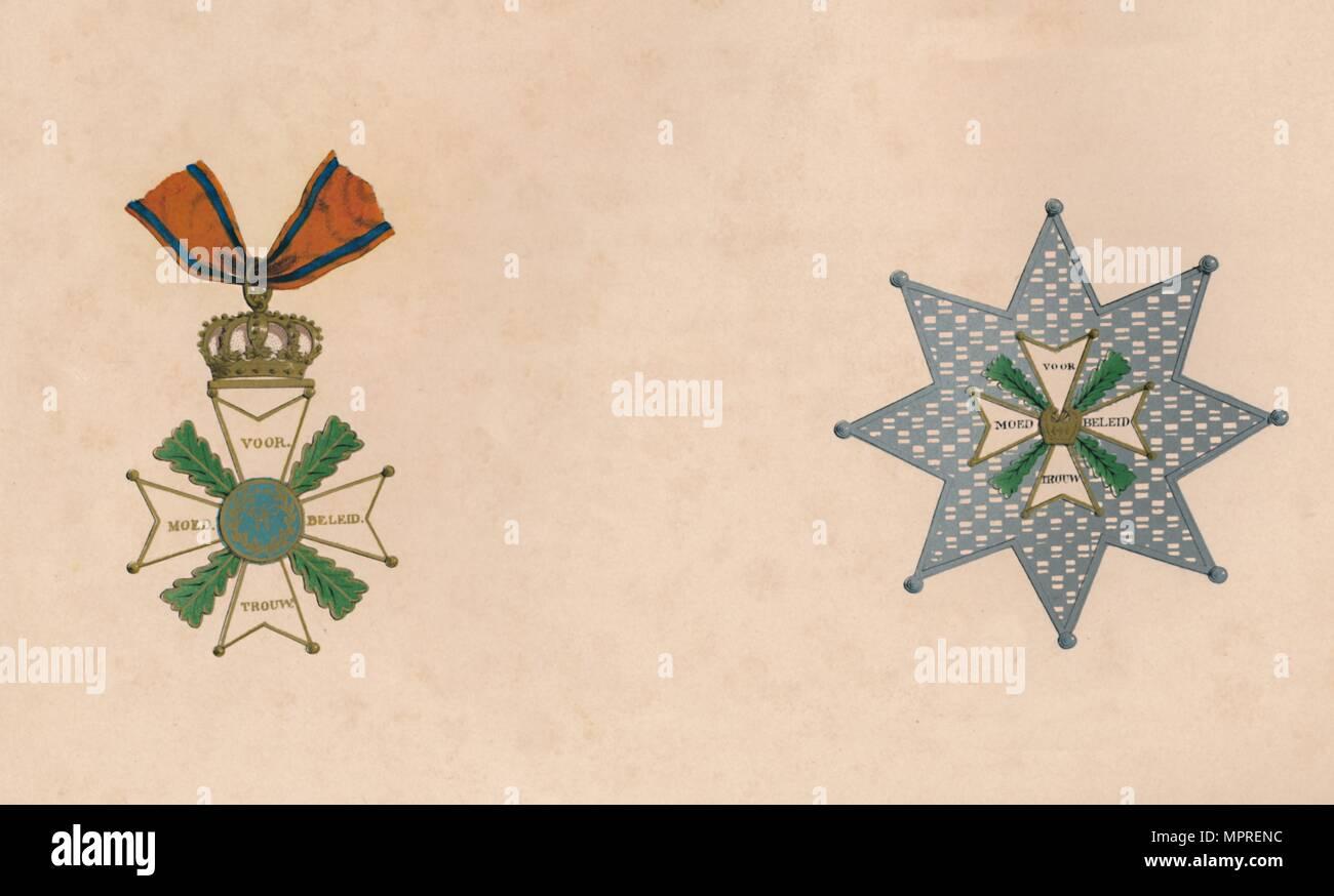 """""""L'ordine di Guglielmo dei Paesi Bassi', c xix secolo secolo. Artista: sconosciuto. Immagini Stock"""