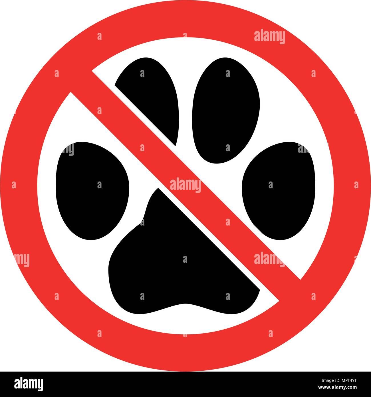 Non Sono Ammessi Animali Domestici Di Segno Gatto Nero Cane O Di
