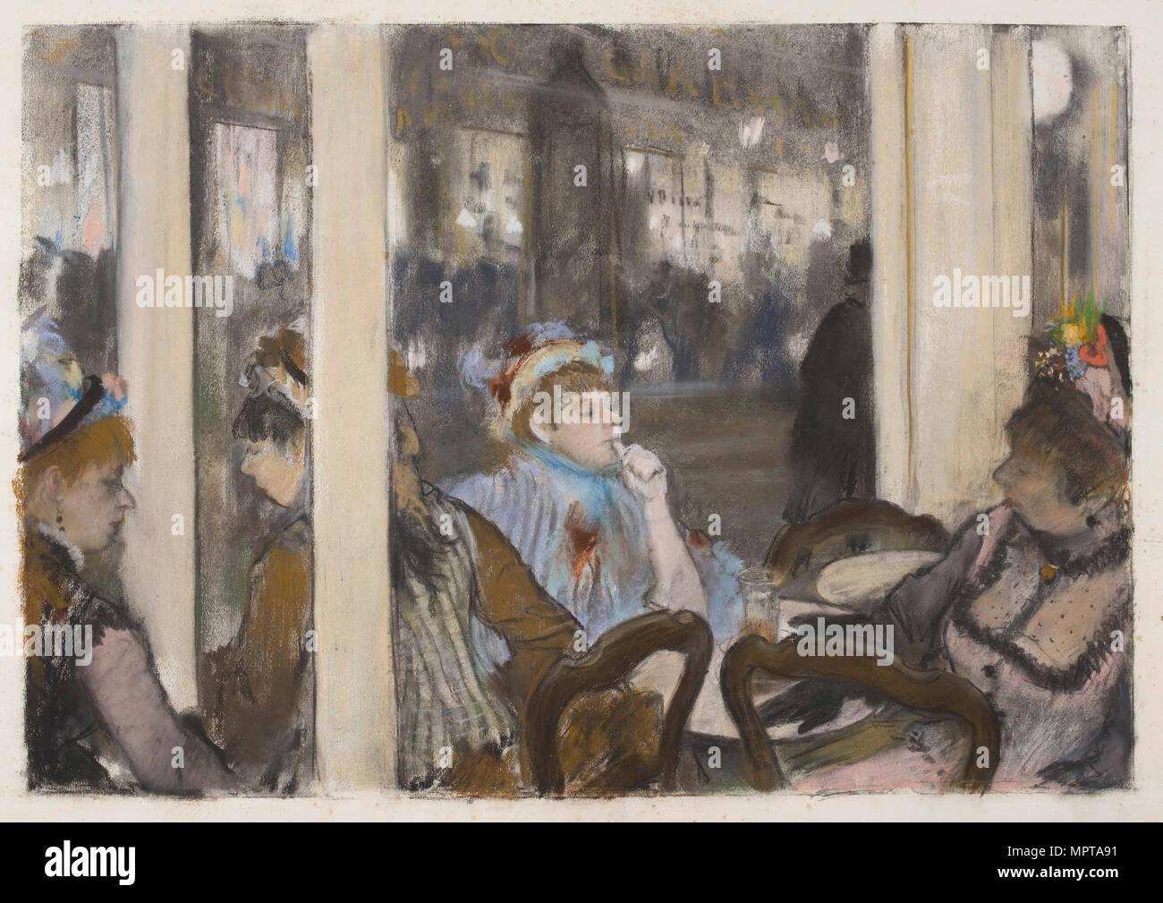 Le Donne Sulla Terrazza Di Un Caffè Sera 1877 Foto
