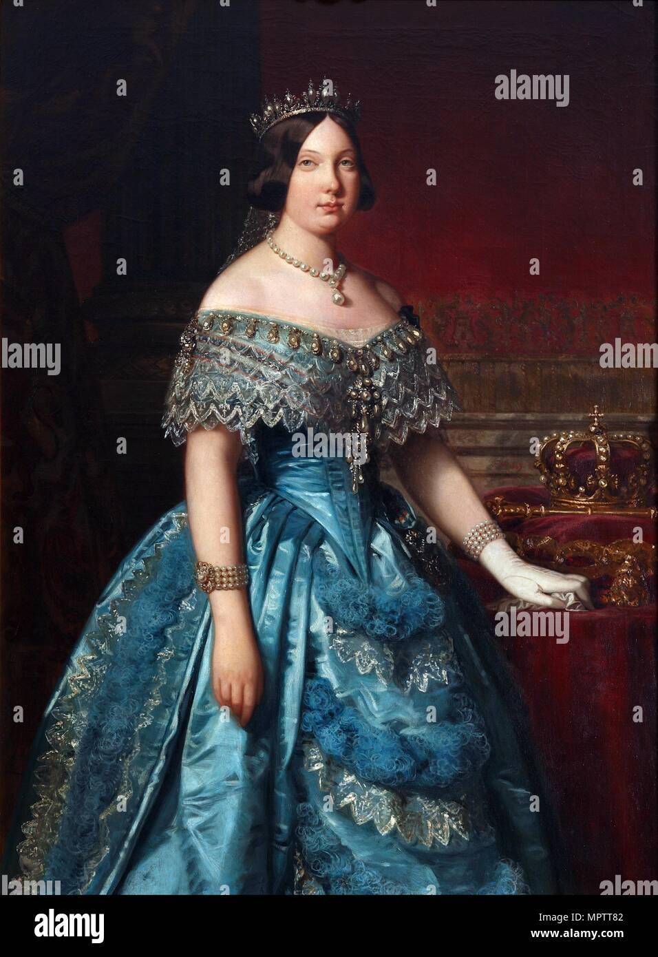 Ritratto di Isabella II di Spagna. Immagini Stock