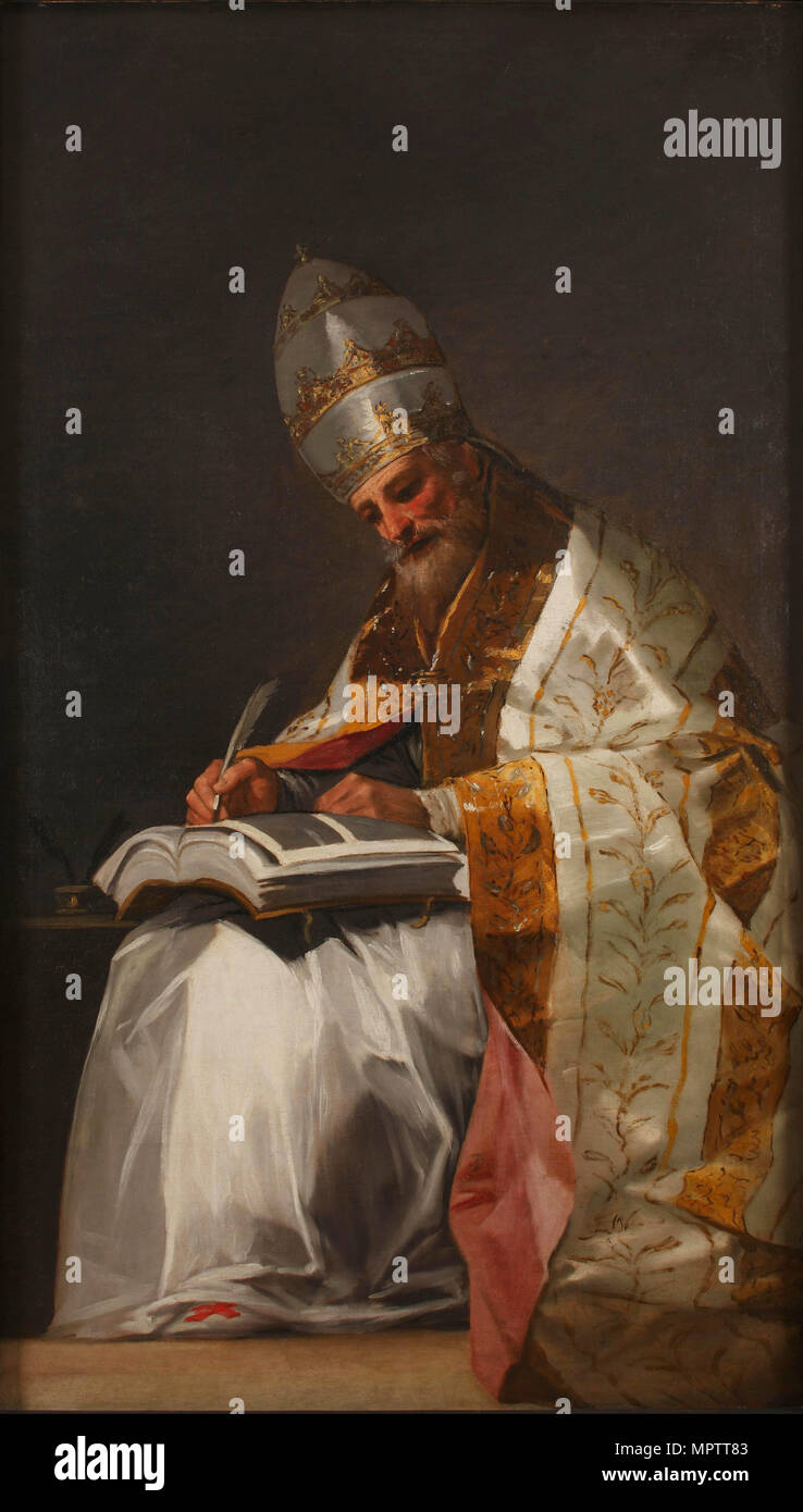San Gregorio Magno. Immagini Stock