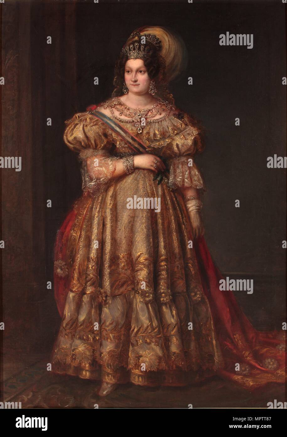 Ritratto di Maria Cristina delle Due Sicilie (1806-1878). Immagini Stock