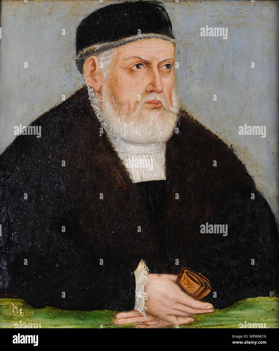 Ritratto di Sigismondo I di Polonia (1467-1548), c. 1565. Foto Stock