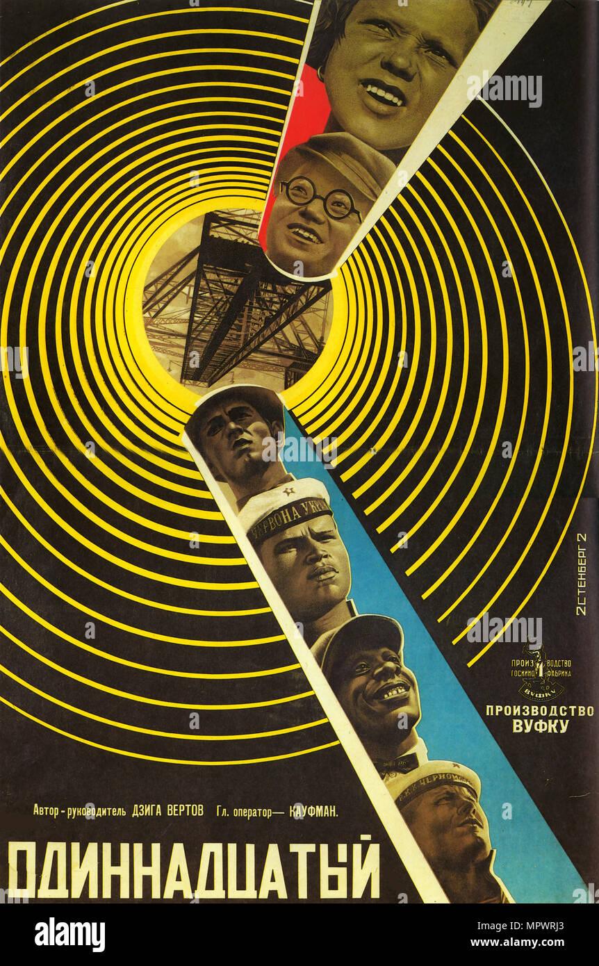 Movie poster la undicesima, 1928. Immagini Stock