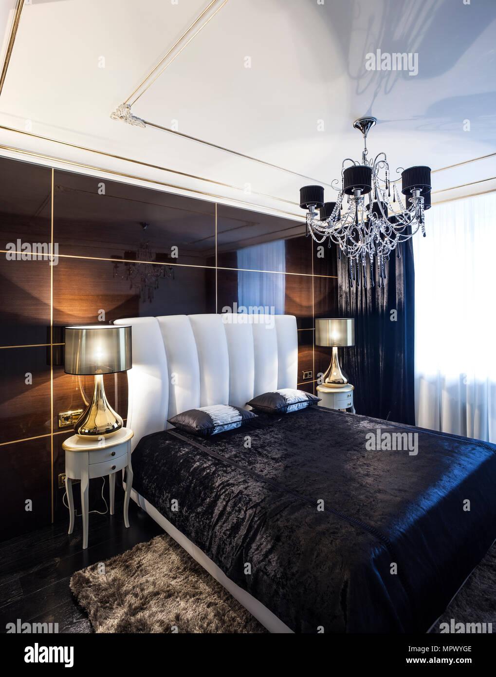 Camera da letto interni di lusso stile rivista Foto ...