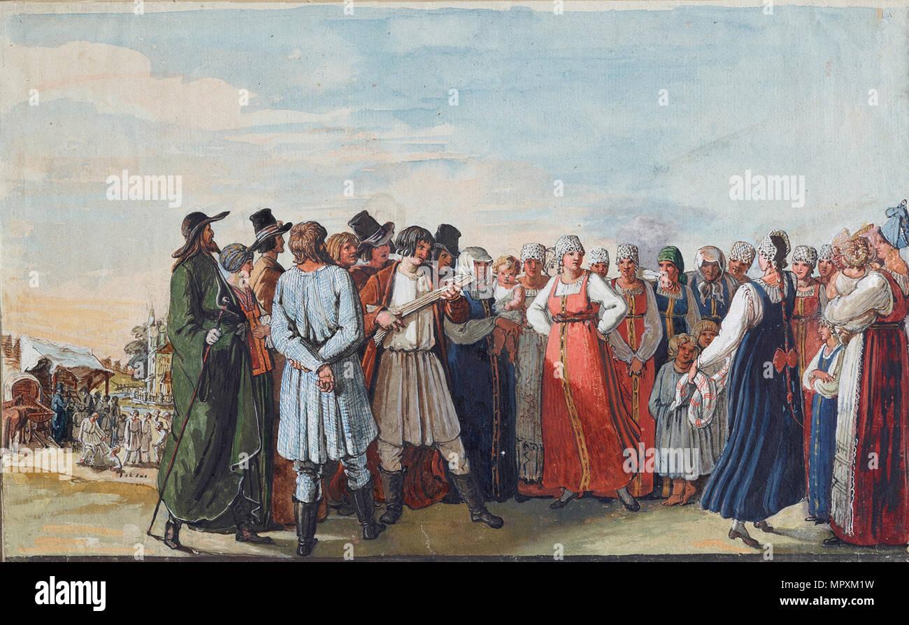 Danza russa, 1817-1818. Immagini Stock