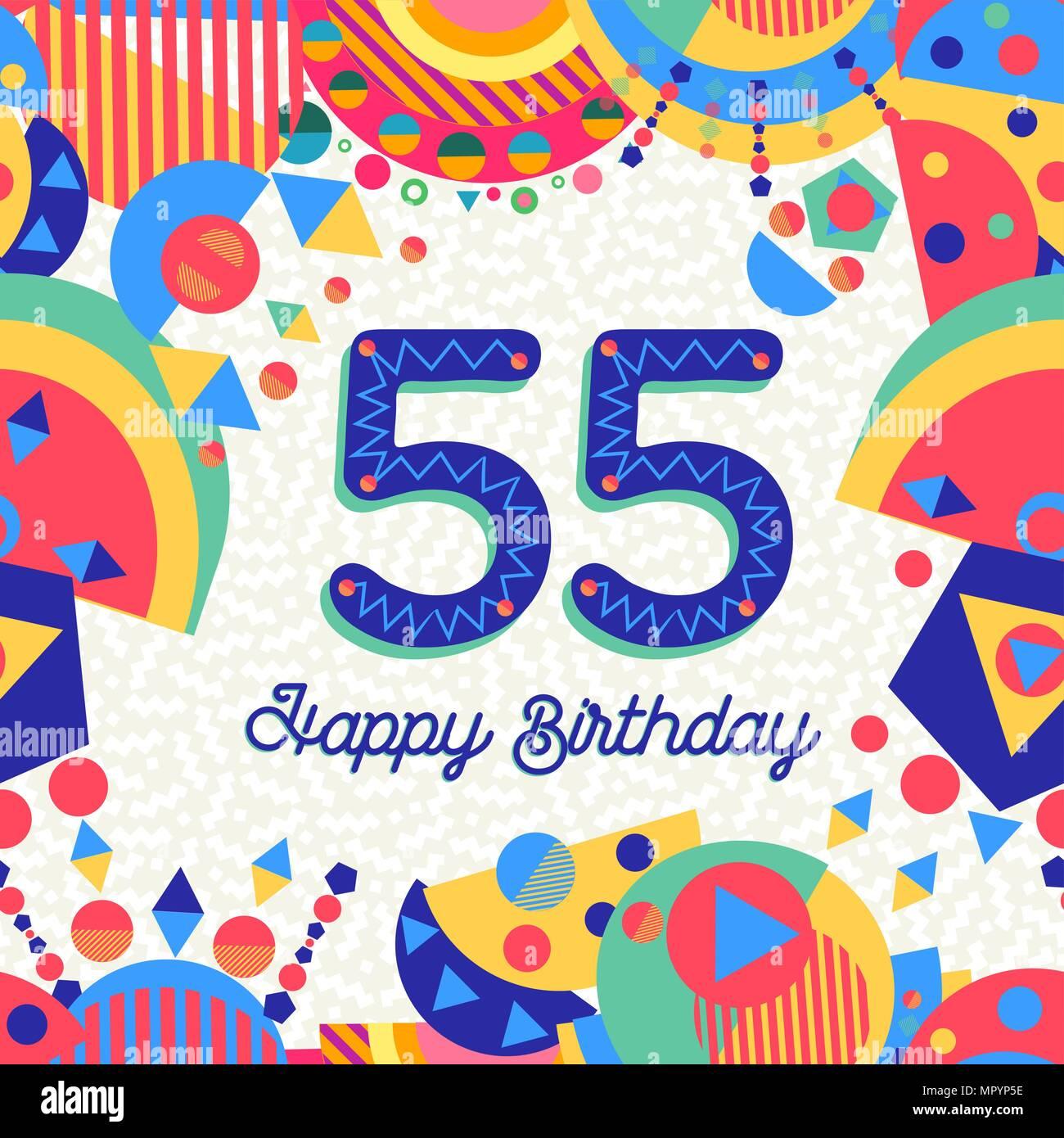 Auguri Buon Compleanno 55 Anni.Buon Compleanno Cinquantacinque 55 Anno Design Divertente