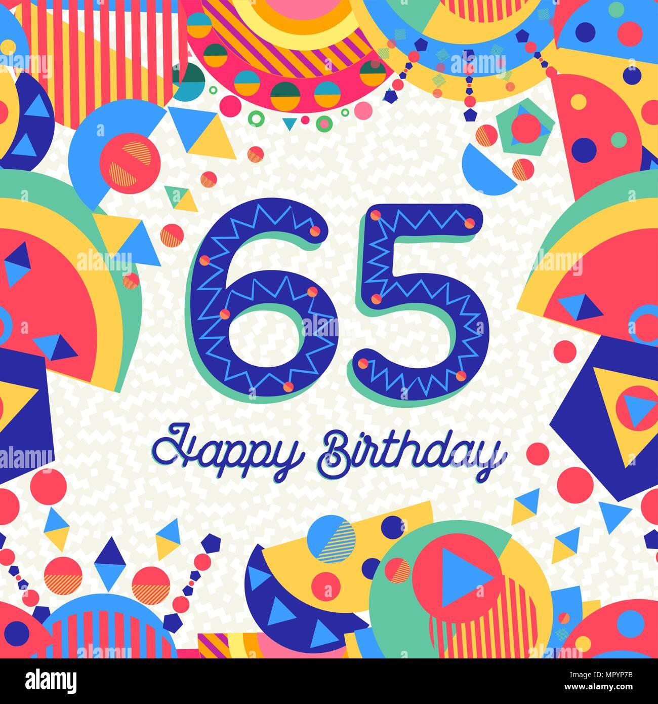 Auguri Buon Compleanno 65 Anni.Buon Compleanno Sessanta Cinque 65 Anno Design Divertente
