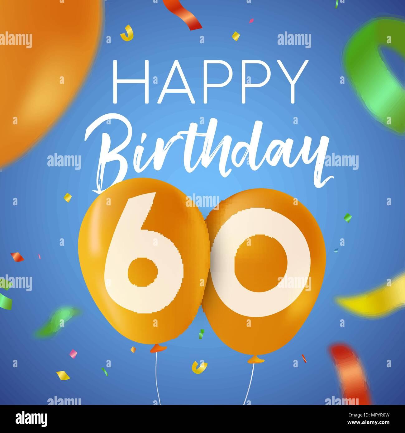 Auguri Buon Compleanno 60 Anni.Buon Compleanno 60 Sessanta Anni Design Divertente Con