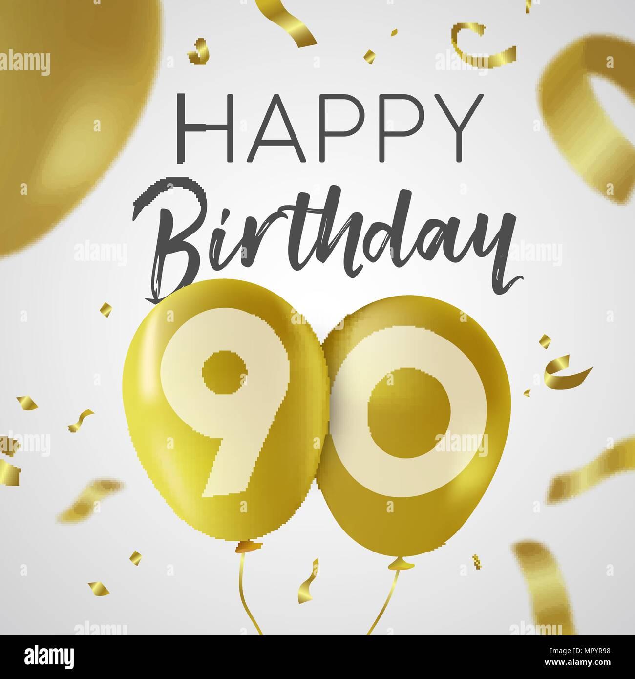 Auguri Di Buon Compleanno 90 Anni.Buon Compleanno 90 Novanta Anni Design Di Lusso Con