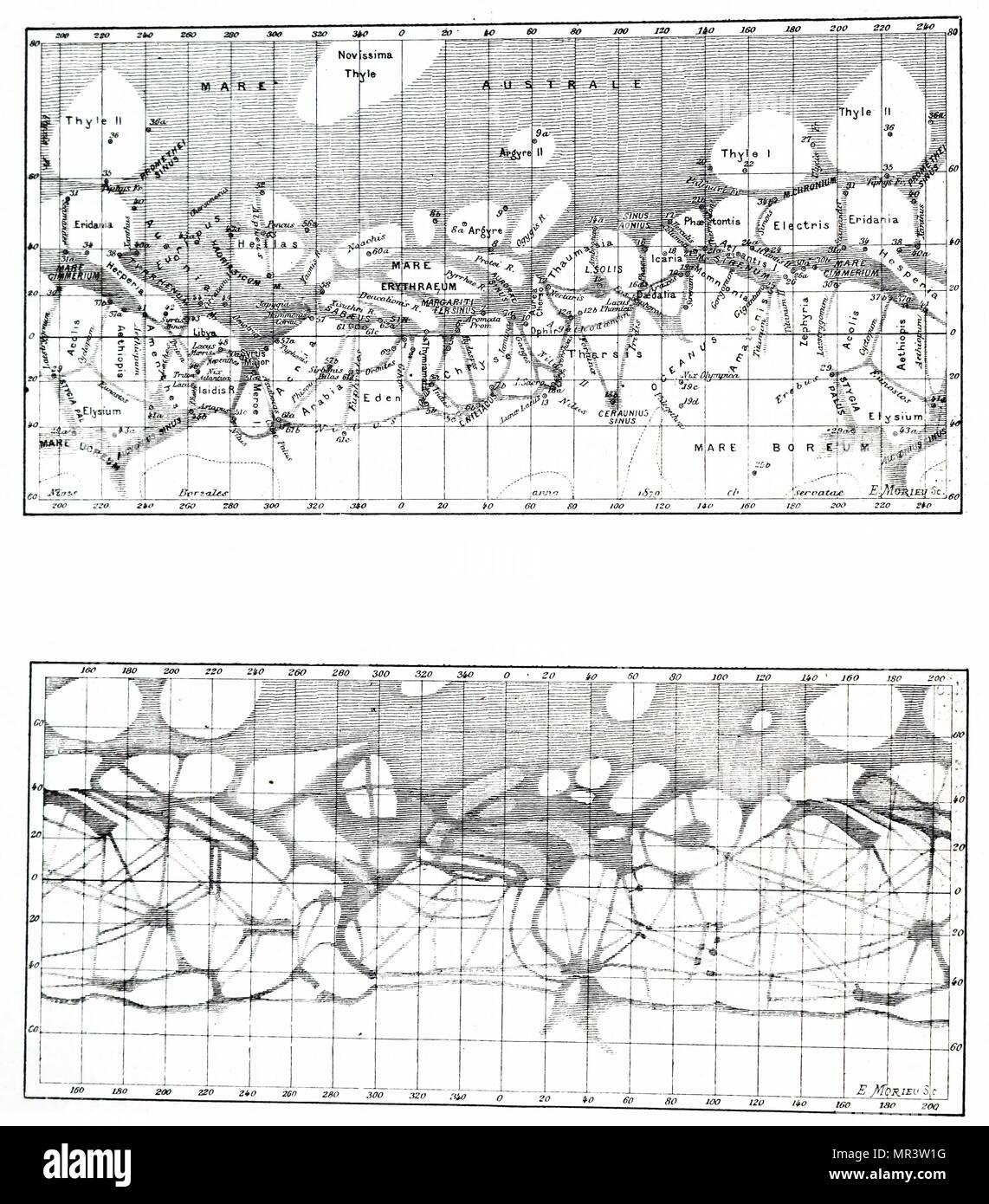 Risultato immagini per schiaparelli mappe marte
