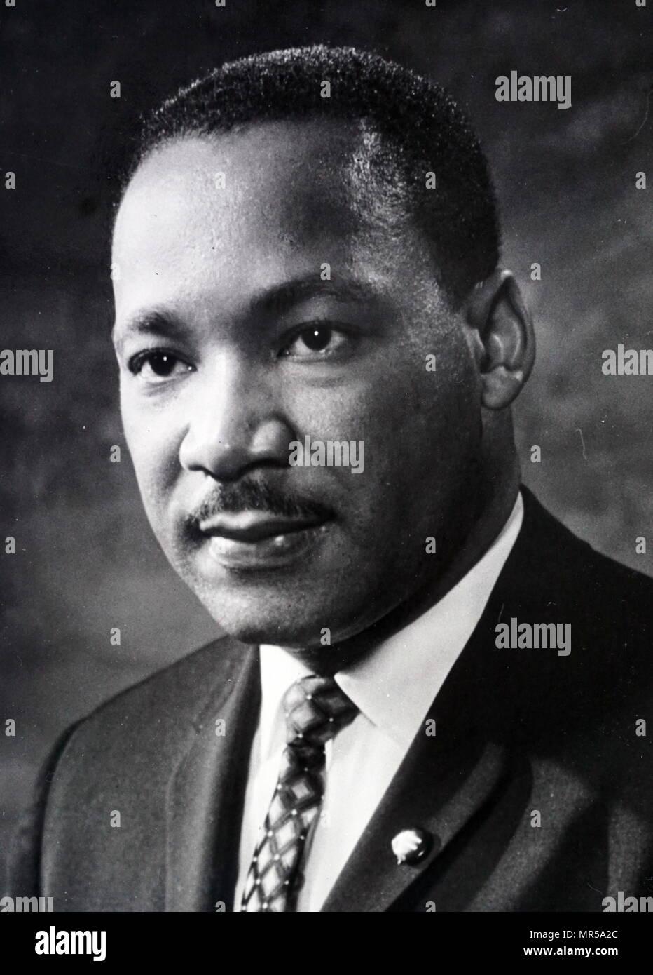 Fotografia di Martin Luther King Jr. (1929-1968) un americano ministro battista, diritti civili attivista e Nobel per la pace. In data xx secolo Foto Stock