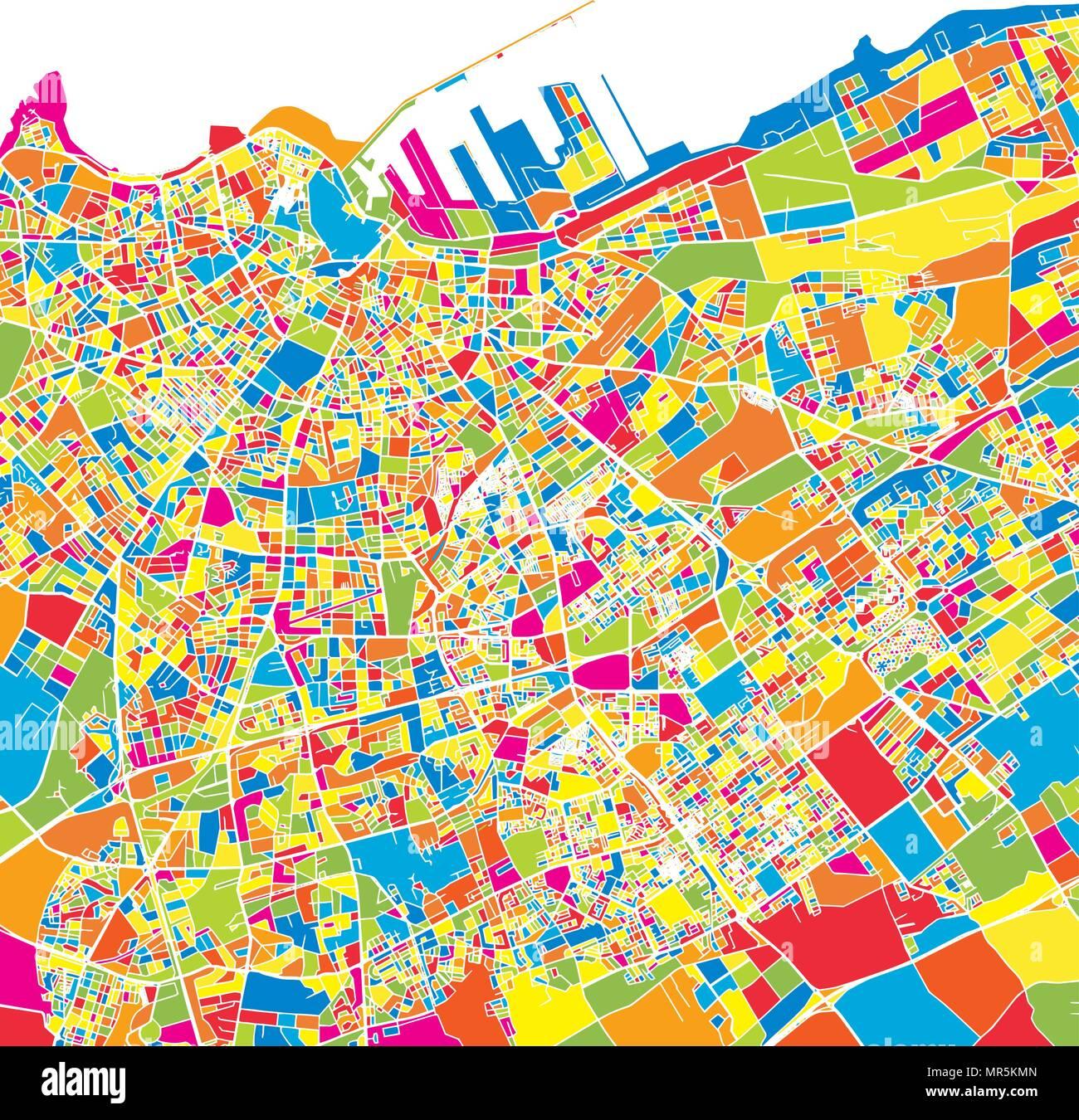 Cartina Marocco Da Colorare.Casablanca Marocco Colorata Mappa Vettoriale Strade Bianche Ferrovie E Acqua Colore Luminoso Punto Di Riferimento Forme Stampa Di Arte Pattern Immagine E Vettoriale Alamy