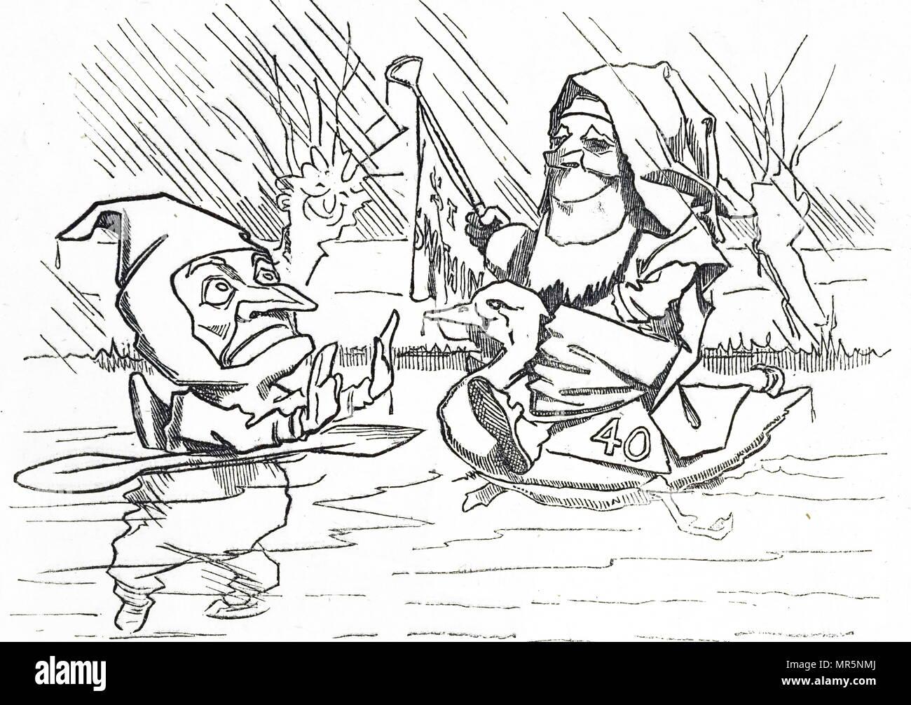 Cartoon raffiguranti St Swithun pregiudiziale un altro ancora un altro British Summer. Datata del XIX secolo Immagini Stock