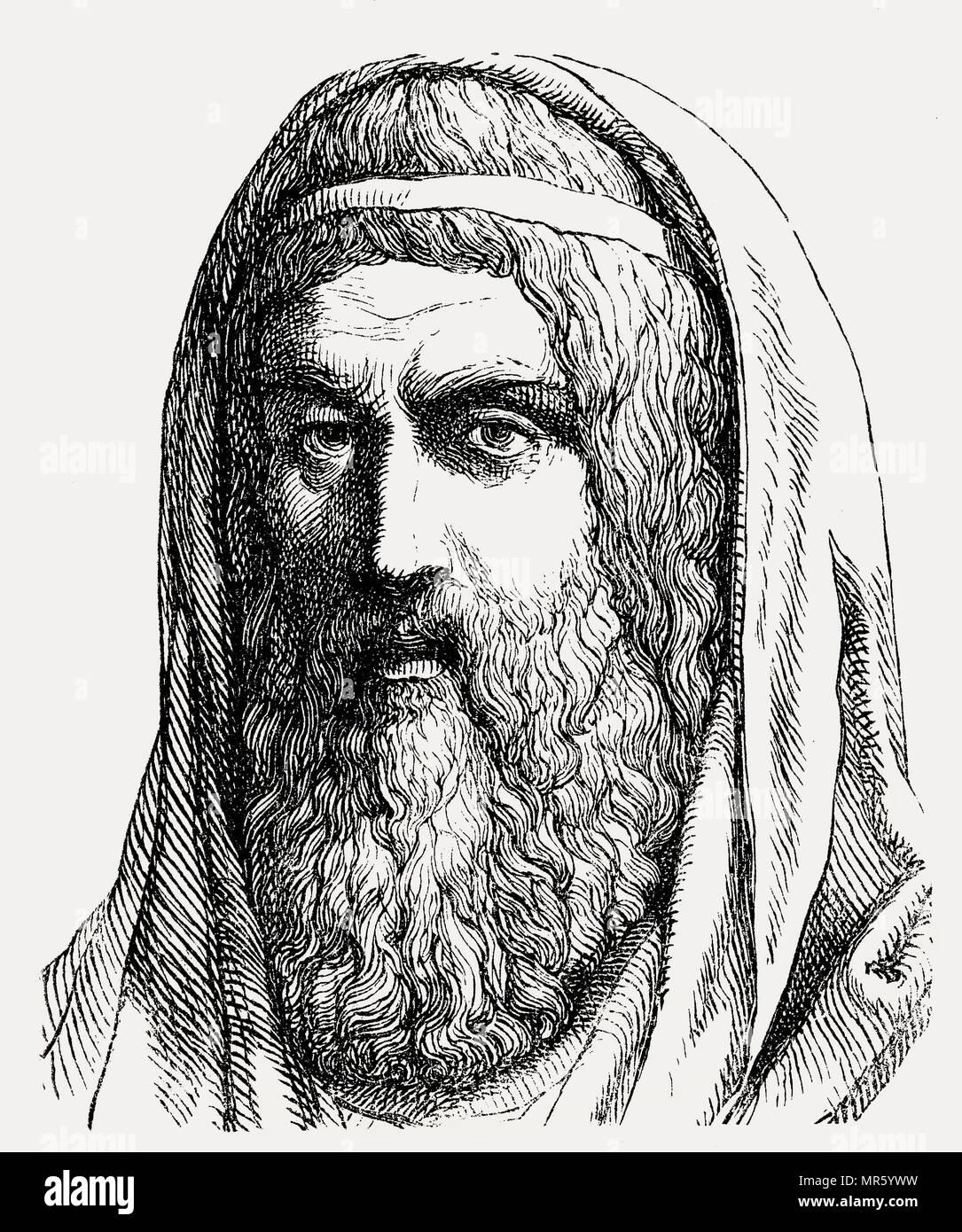 A Numa Pompilio, 753-673 BC, il leggendario secondo re di Roma Immagini Stock