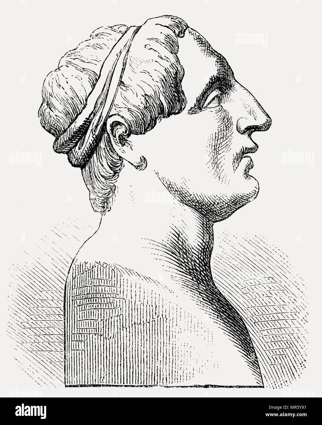 Ancus Marcius, c. 677-617 BC, il leggendario quarto re di Roma Foto Stock