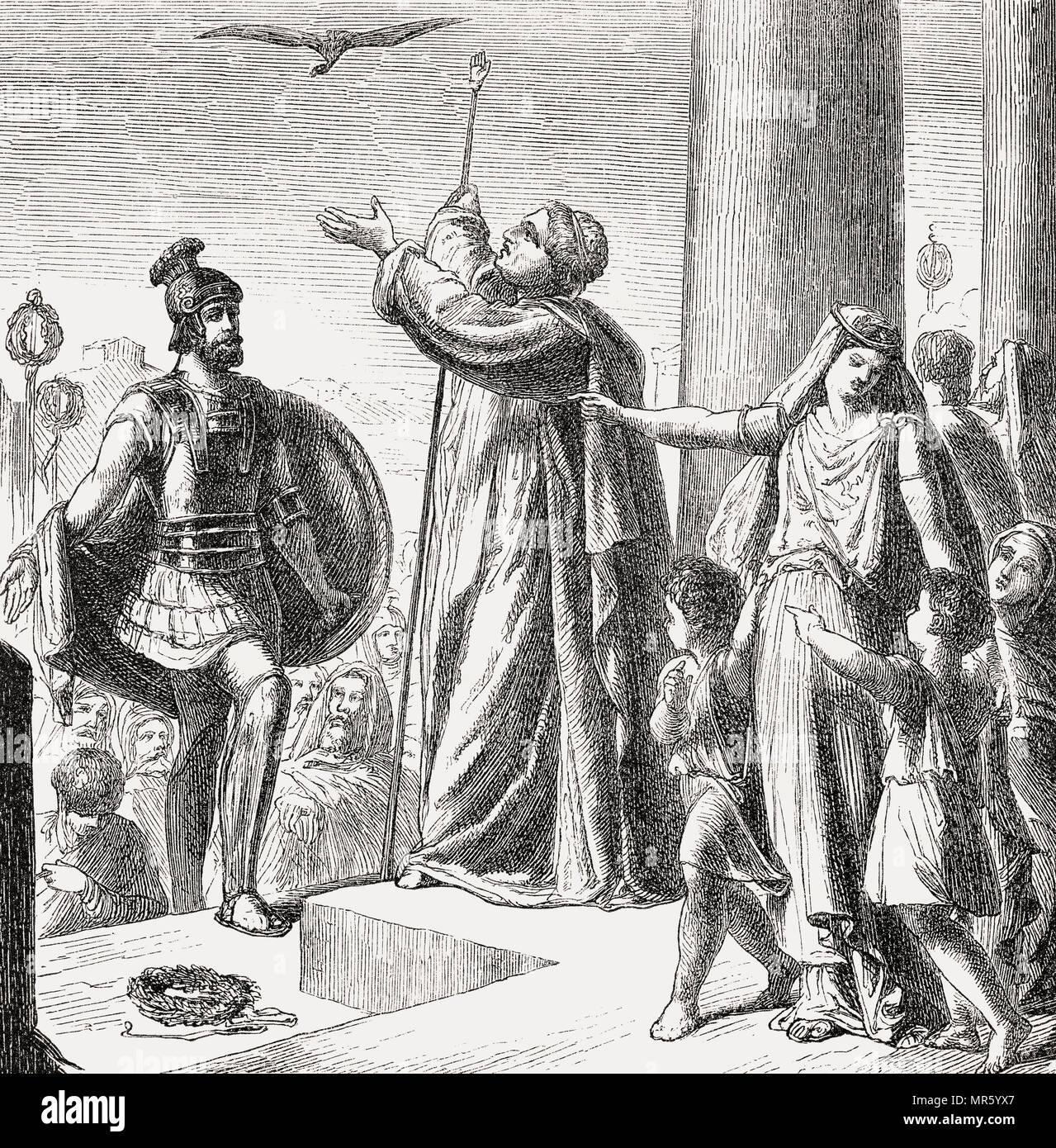 Ancus Marcius, quarto re di Roma in onore di Lucio Tarquinio Prisco, quinto re di Roma Immagini Stock