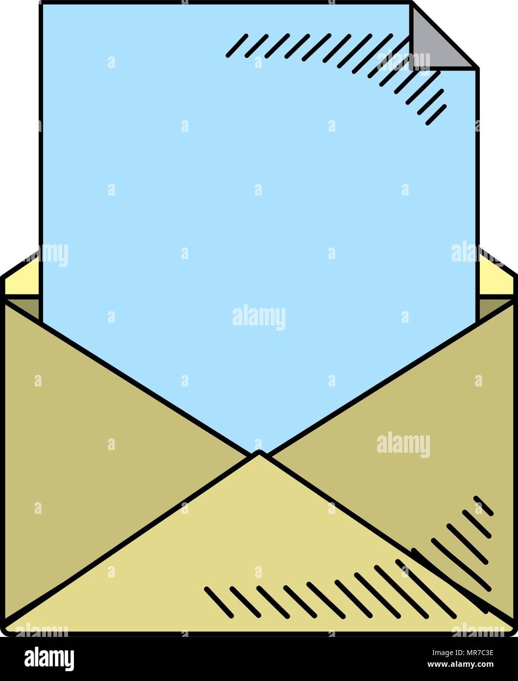 Aprire e-mail letter messaggio di testo Immagini Stock