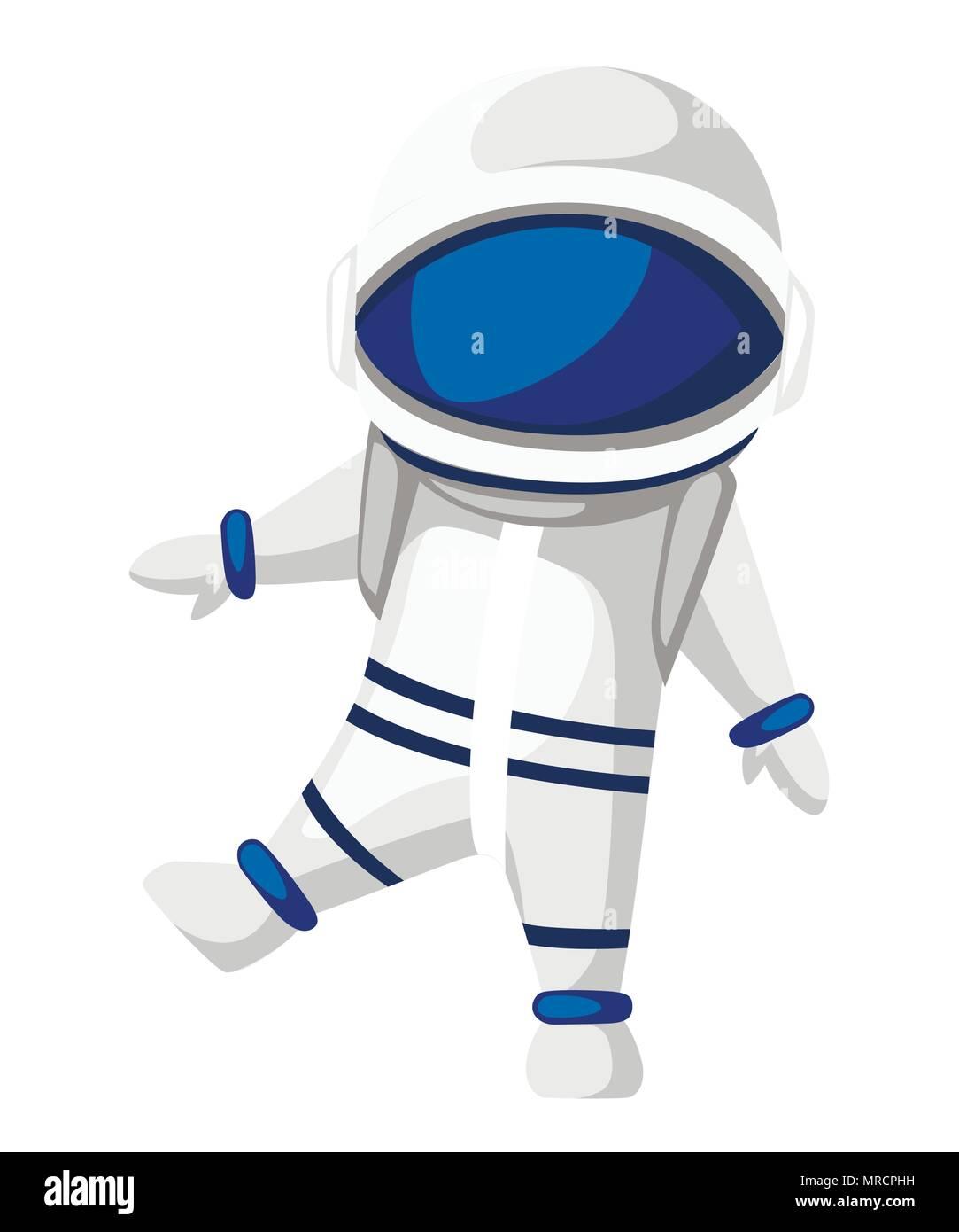 Illustrazione della astronauta cartoon character design