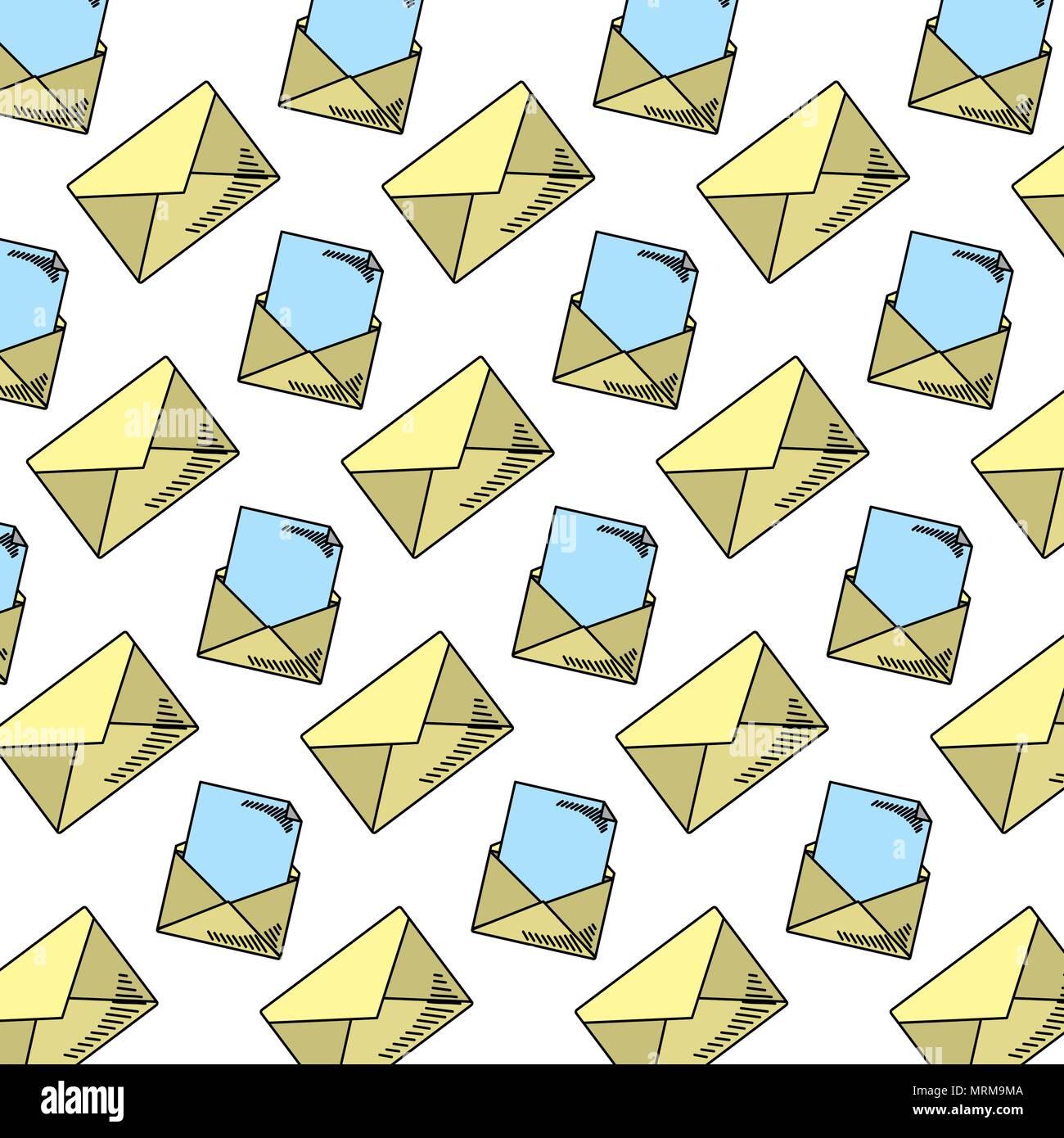 E-mail Messaggio di testo sullo sfondo di stile Immagini Stock