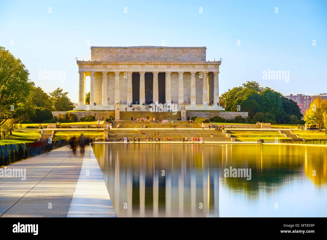 Il Lincoln Memorial a Washington DC Immagini Stock