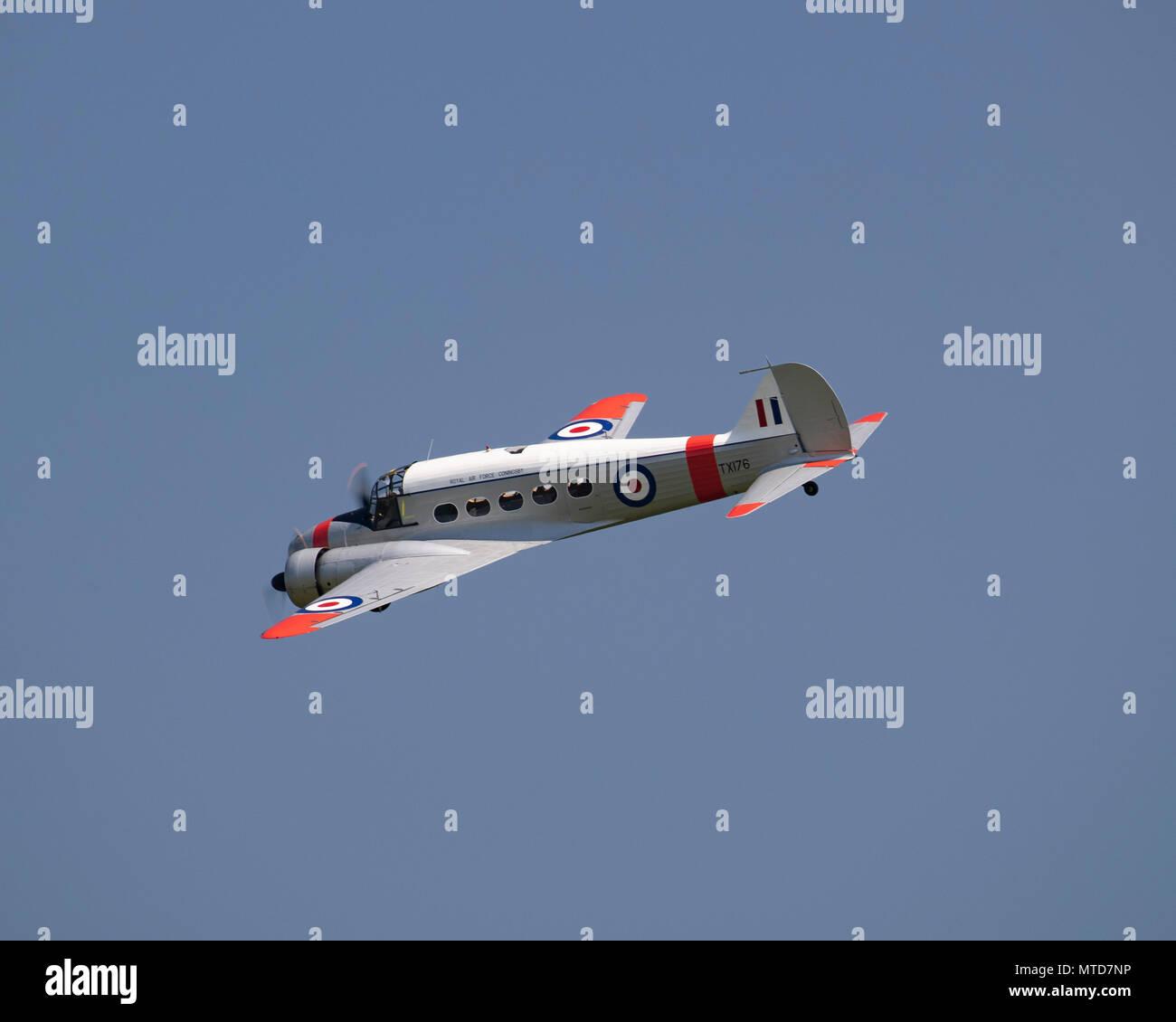 Avro Anson volare alla Shuttleworth fiducia Immagini Stock