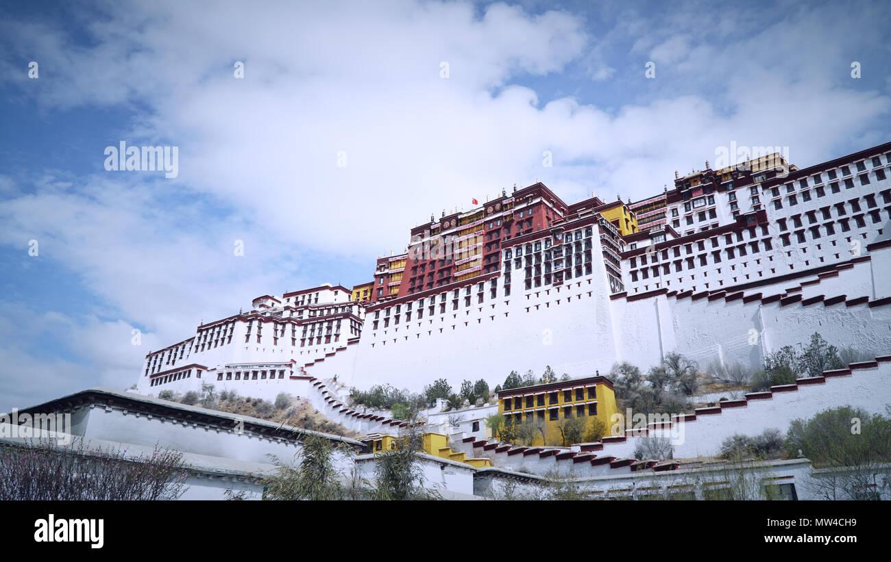 Palazzo del Potala, Lhasa, in Tibet, in Cina Immagini Stock