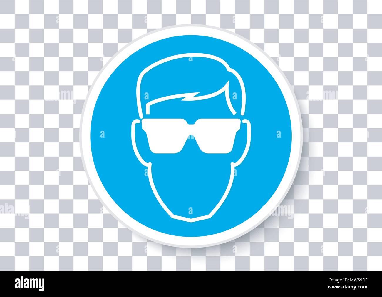 Il design del vettore di indossare protezioni per gli occhi Immagini Stock