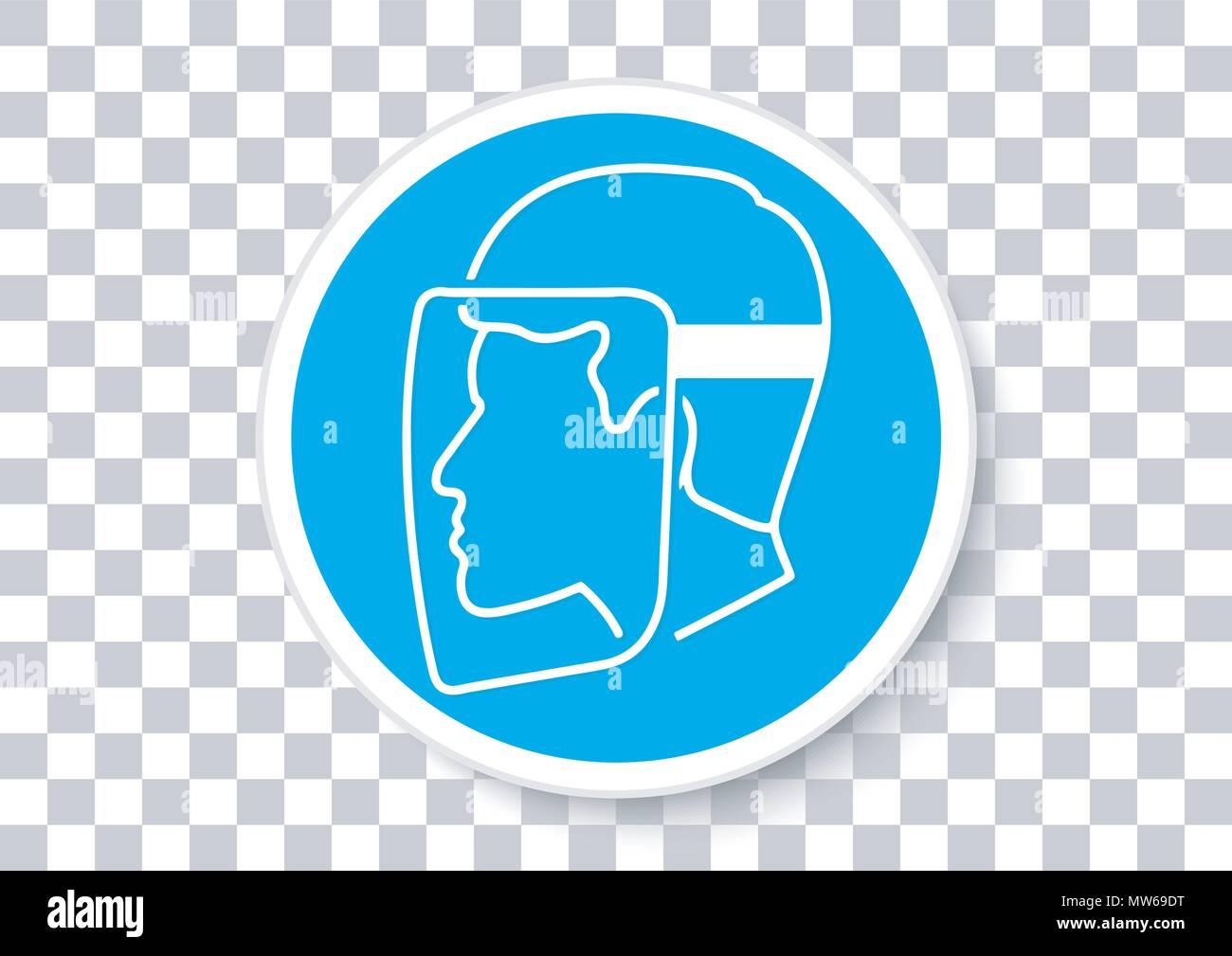 Il design del vettore di una protezione per il viso deve essere usurato Immagini Stock
