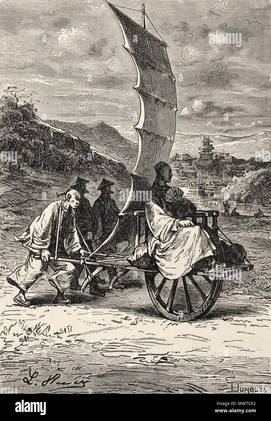 """""""Era nell'equipaggio' da L. Benet da 'tribolazioni di un Chinaman in Cina """" di Jules Verne. Parigi: J. Hetzel, (1895) Immagini Stock"""