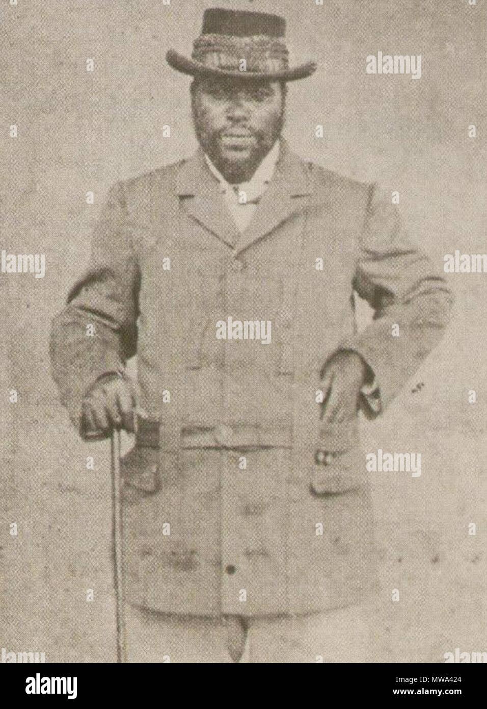 . Capo Sigcawu. Pondo leader. 23 marzo 2011 (data di caricamento) fotografia dai primi 1800s. Gli archivi del capo 126 Chief Sigcawu di Pondoland e la colonia del Capo Immagini Stock