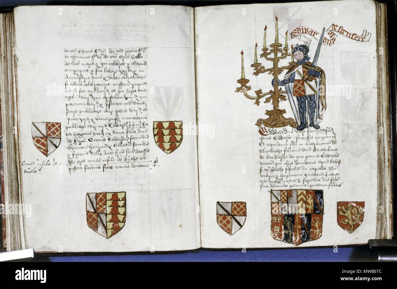Inglese Fondatori E Benefattori Libro Di Tewkesbury Abbey Fol 23v