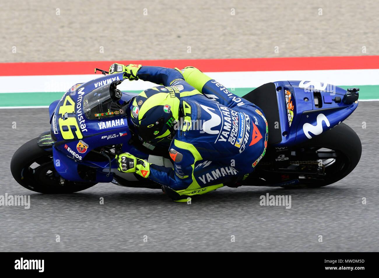 076c89b7e85df Il 31 maggio 2018. Valentino Rossi di Italia e Movistar Yamaha MotoGP in  azione ...